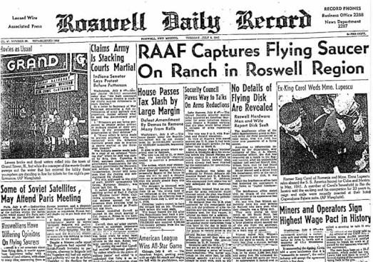 RoswellDailyRecordJuly82C1947